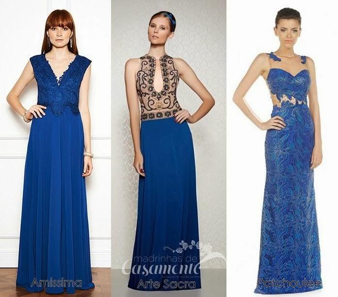 Vestido azul madrinha comprar