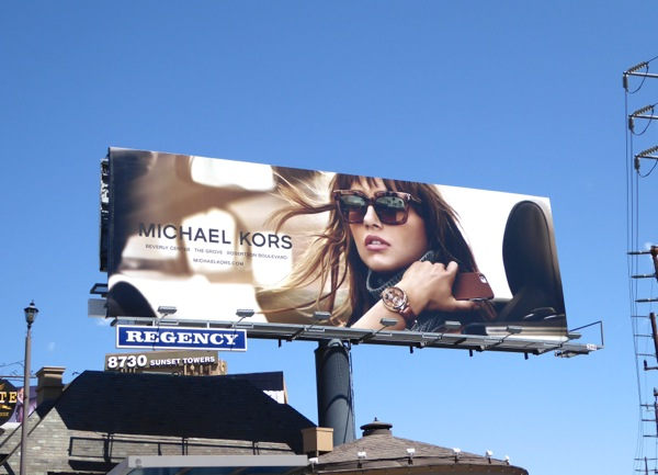 Michael Kors Fall 2015 fashion billboard
