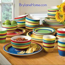 handpainted stoneware dinnerware
