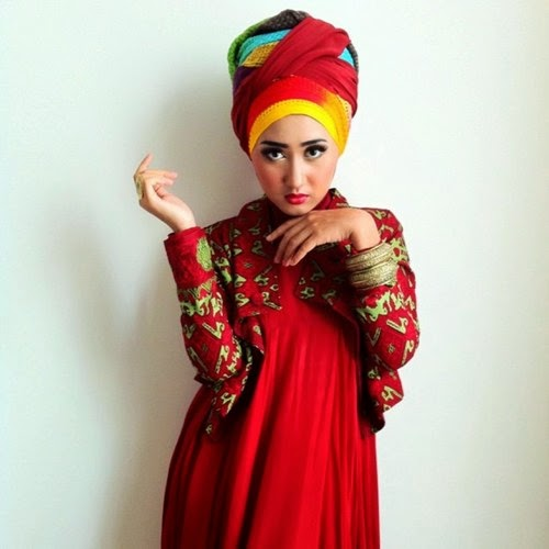 Cara Memakai Jilbab Turban Ala Dian Pelangi - Jilbab Rias