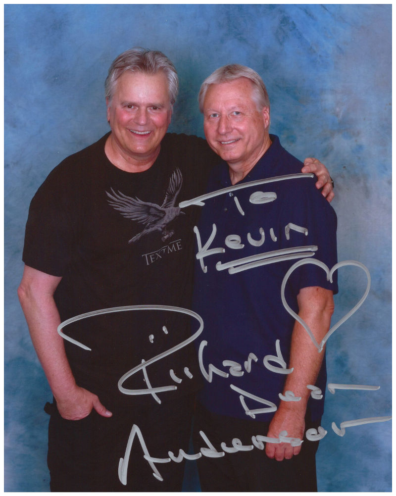 Image of Richard Dean Anderson and me at Shore Leave 2014, August 2, 2014
