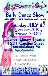 bellydance show flyer