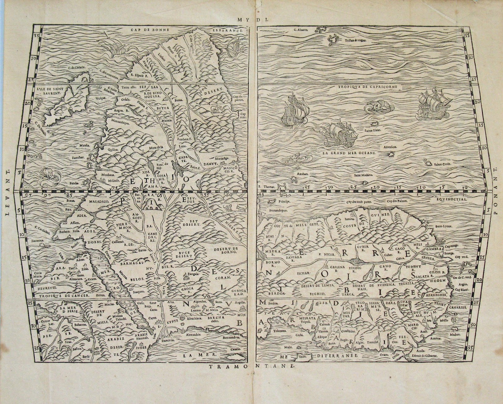 A Detail Of The 1520 Leo AfricMap Derived And Compiled From A Collection Of Maps Leo Was Traveling With When He Was Captured By Pirates In The