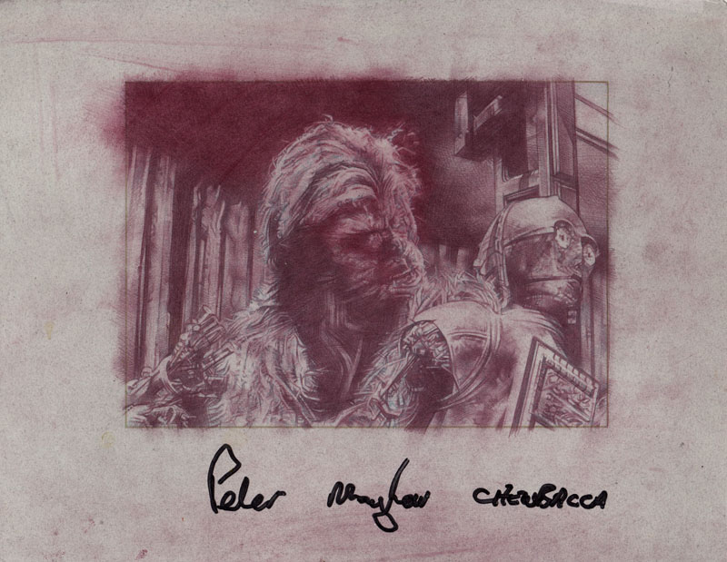 Peter Mayhew as Chewbacca and Anthony Daniels as C3PO (Pencil study) Original Art by Jeff Lafferty