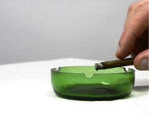 bikin asbak rokok dari botol