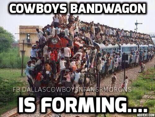 cowboys bandwagon is forming...