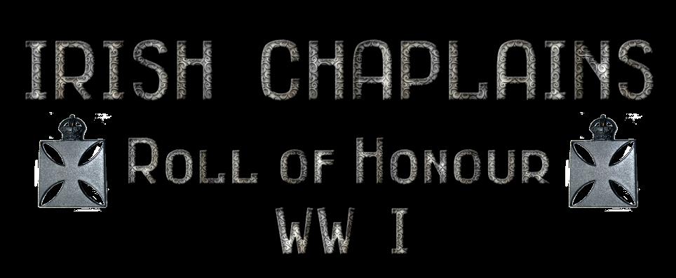 IRISH CHAPLAINS ROLL of HONOUR WW I