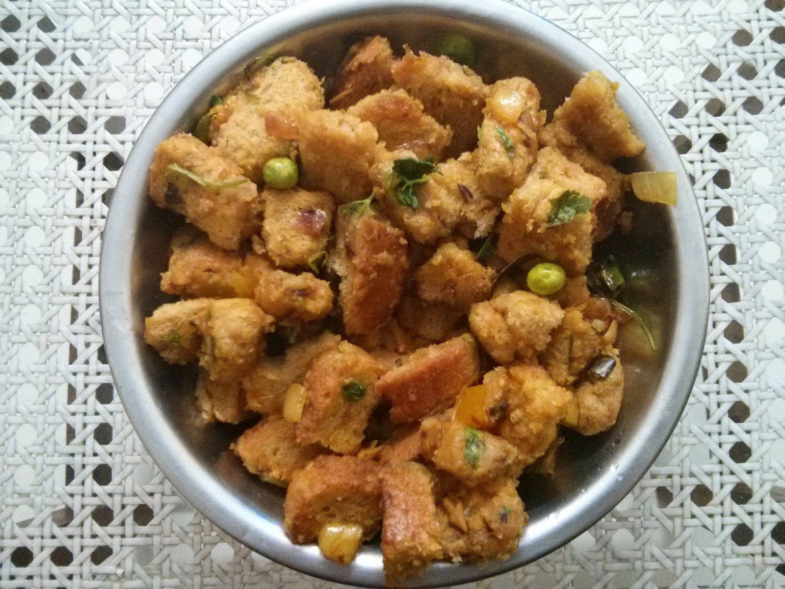 Bread bhath / bread masala / bread upma recipe
