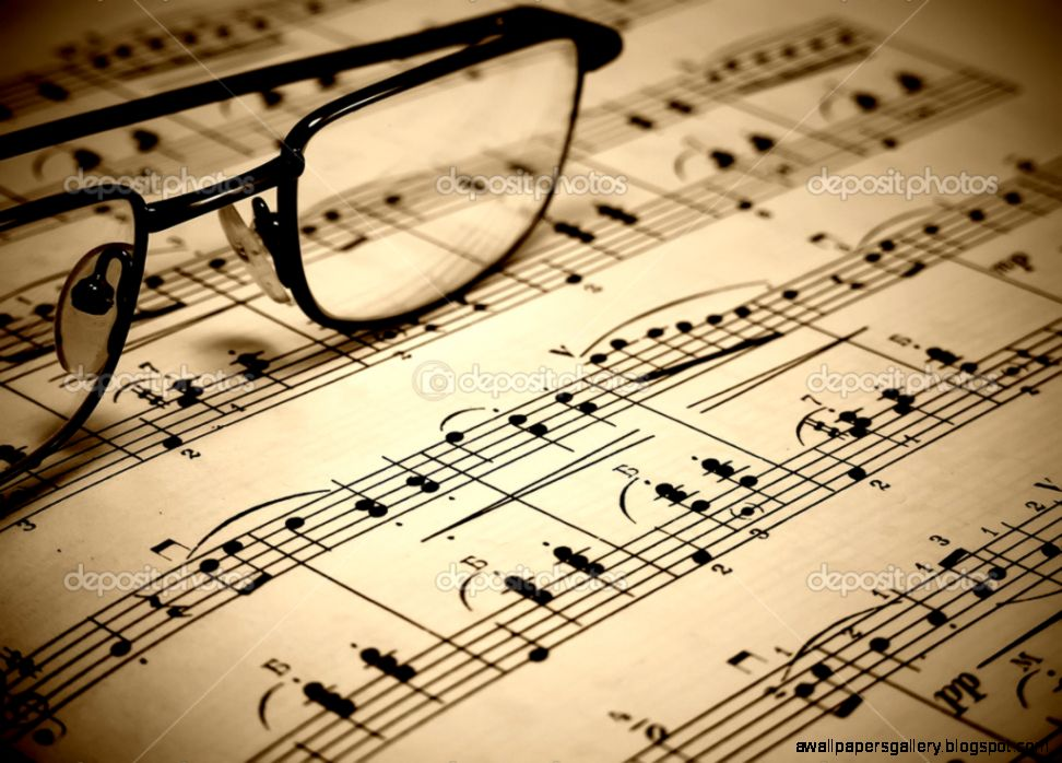Sheet music backgrounds wallpapers the for Wallpaper sheets