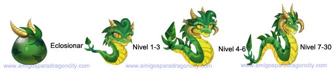 imagen del crecimiento del dragon wurm o gusano