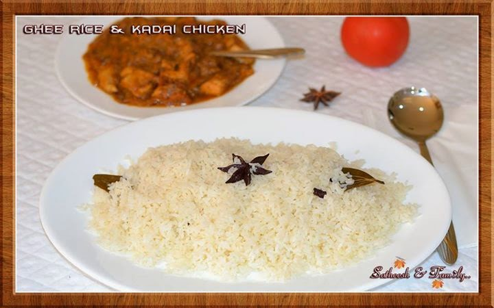 Ghee Rice & Kadai Chicken