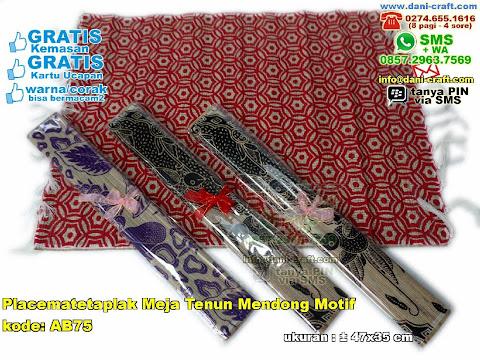 placematetaplak meja tenun mendong motif