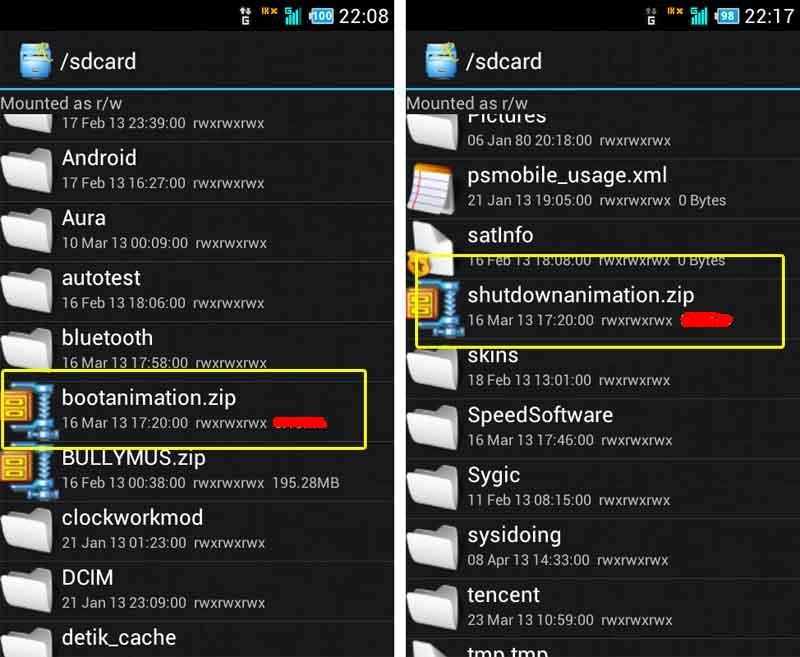 Cara mengganti Bootanimation dan splash screen andromax i