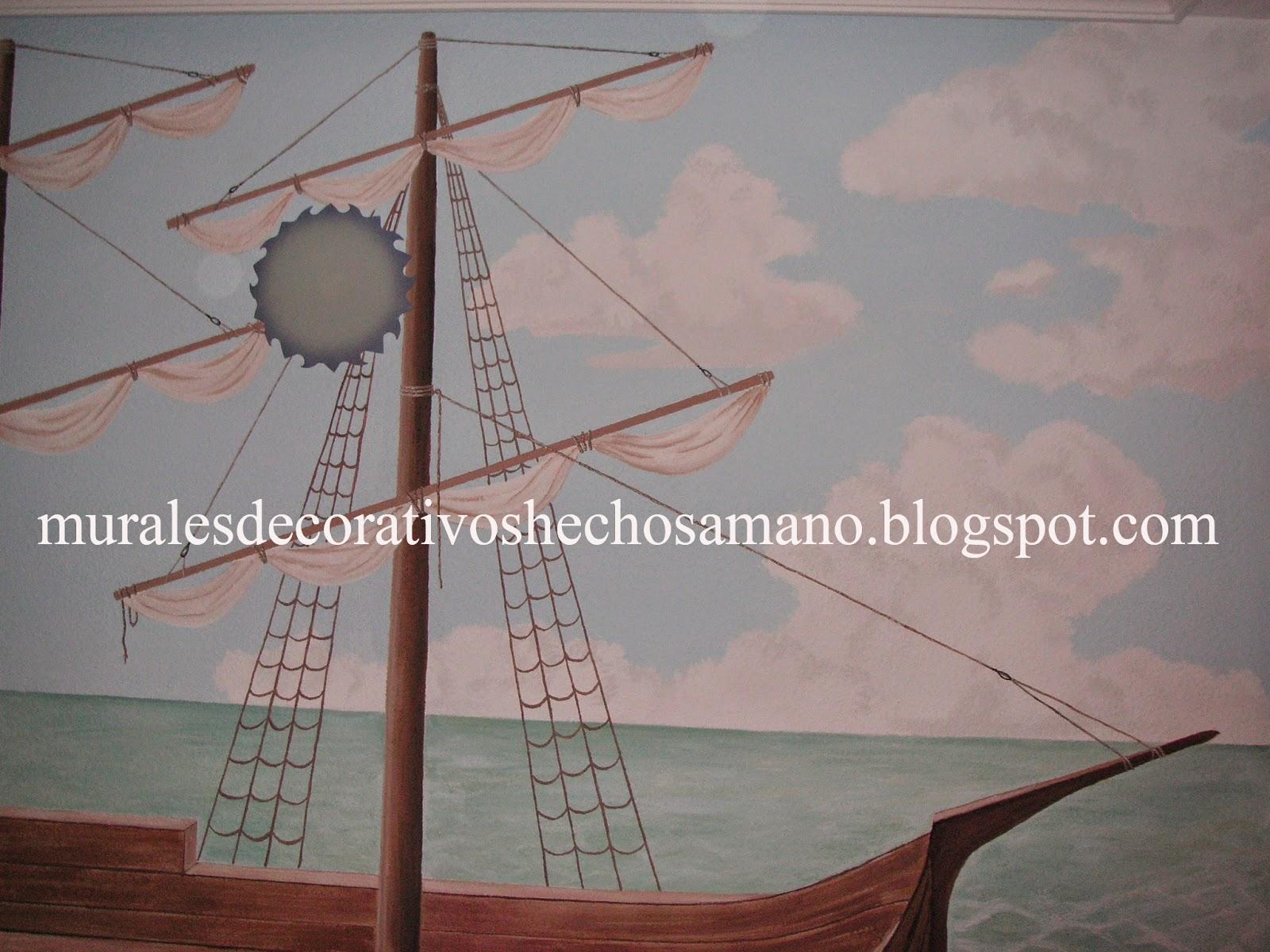 Diarios, Murales y Cuadros: Barco Pirata y Fondo Marino en ...