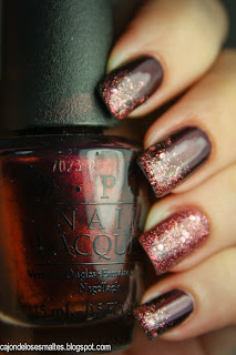 OPI - Every month is oktoberfest y Essence - Time for romance