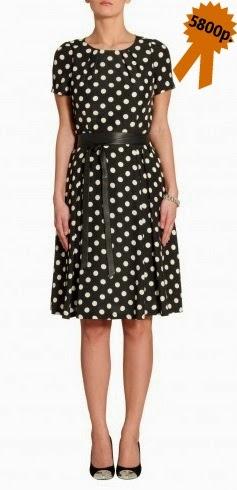 Платье в горошек Apart ретро стиль