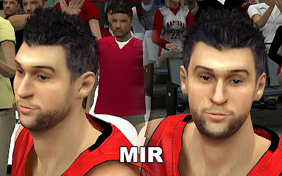 NBA 2K13 Andrea Bargnani Cyberface Mods