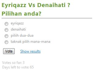 Eyriqazz vs denaihati poll