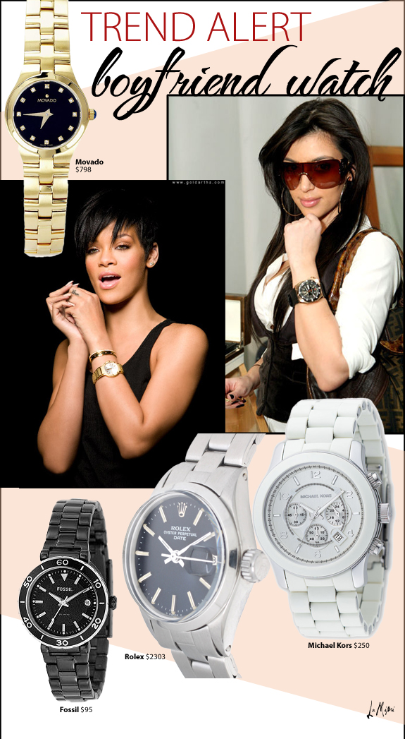 Swiss Collections Style.: TREND ALERT: Boyfriend Watches