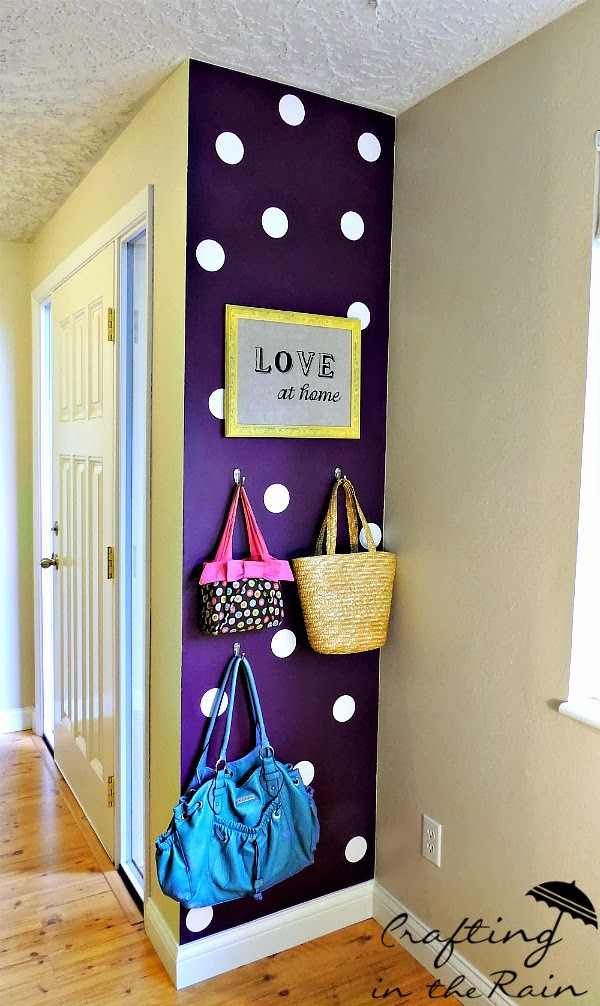Polka Dot Purple Wall by Crafting in the Rain