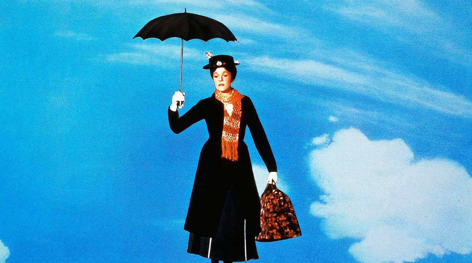 Mary Poppins flying