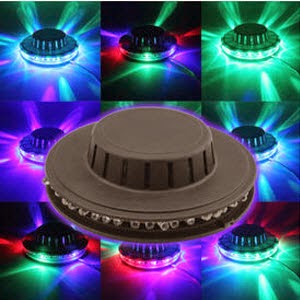 Dhamaal: Buy Diwali Colourful Rotating Wall Led Sun Light DJ Party Light at Rs.199