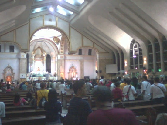 Many people inside Quiapo Church