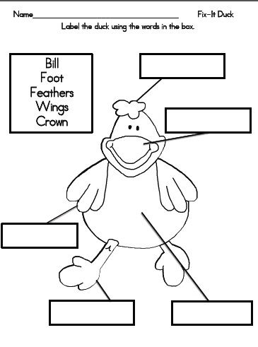 duck kindergarten worksheet duck best free printable worksheets. Black Bedroom Furniture Sets. Home Design Ideas