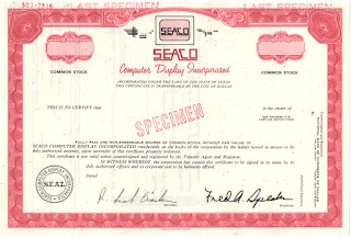 SEACO Computer Display Incorporated stock certificate