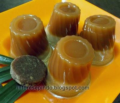Cara Membuat Puding Santan Gula Merah Lezat
