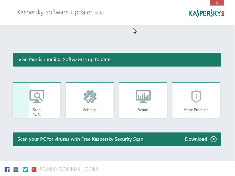 برنامج Kaspersky Software Update لتحديث برامج الكمبيوتر بضغطة زر مجاناً