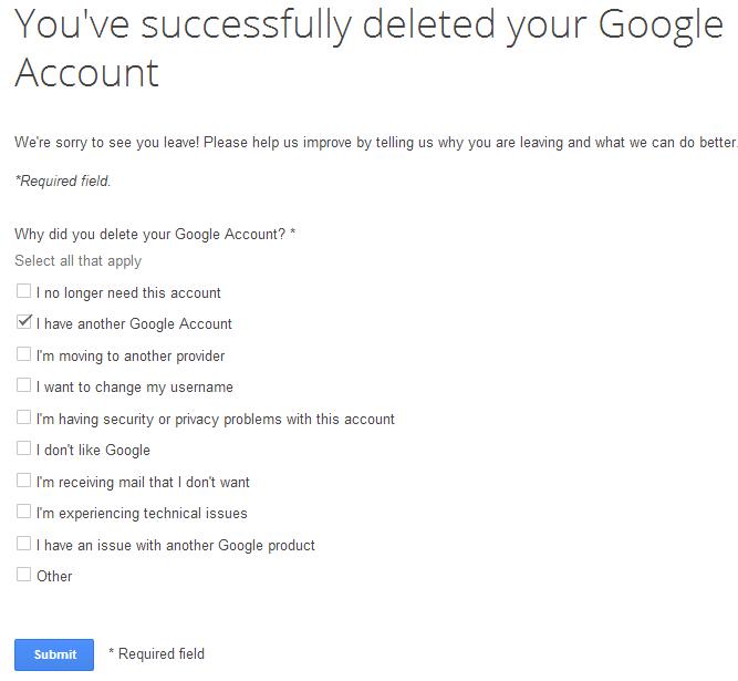 Cara Menghapus Akun Google Secara Permanent