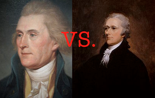thomas jefferson vs alexander hamilton economic The differences between hamilton & jefferson's views on political party beliefs at the end of the american revolution, two political philosophies dominated american politics some of the nation's founders, like alexander hamilton, believed in a strong central government while others shared the sentiments of thomas jefferson that the states.