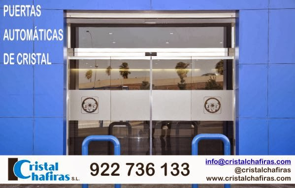 Puertas autom ticas de cristal en tenerife cristal chafiras for Puertas automaticas cristal