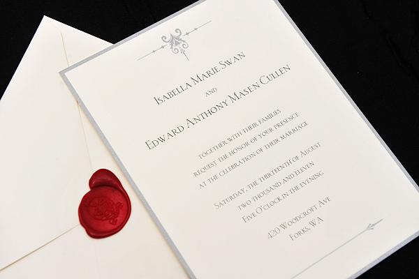 Breaking dawn wedding invitation card revealed teaser leaked but since its not right to post before it should be shown by mtv poor them i shall post up something that was released officially the wedding invite stopboris Choice Image
