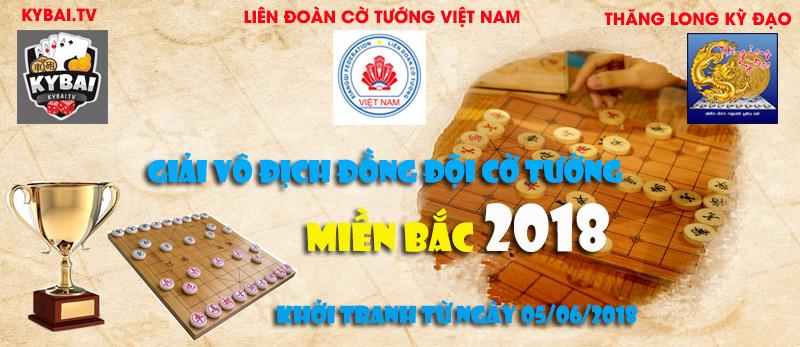 Lịch thi đấu giai đoạn 2 : Giải vô địch đồng đội cờ tướng miền Bắc 2018