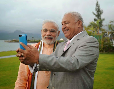 PM Narendra Modi and Prime Minister of Fiji Frank Bainimarama