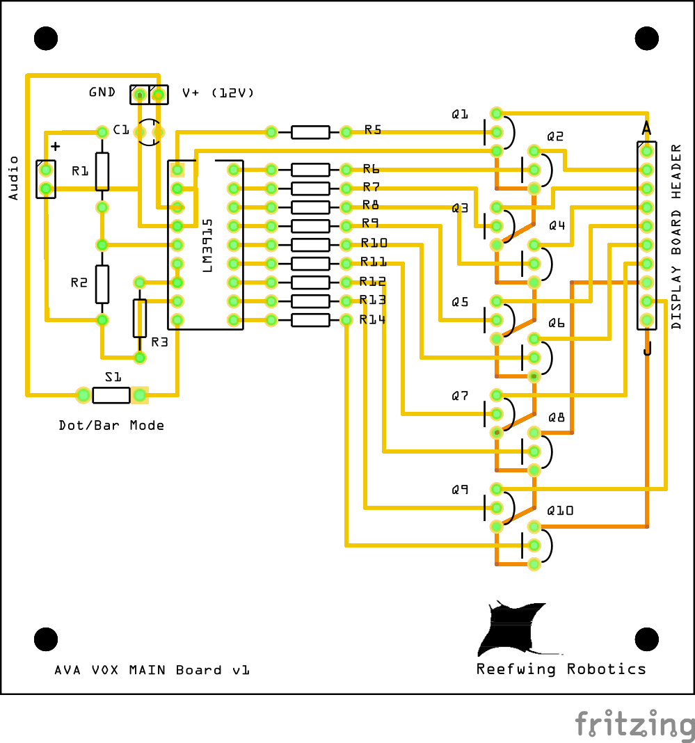 Reefwing Robotics July 2015 Led Lm3915 Vu Meter Not Working Properly Electrical Engineering Main Driver Pcb