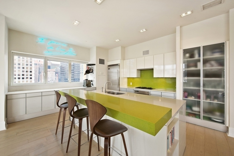 Kitchen in Wolf of Wall Street Manhattan Apartment
