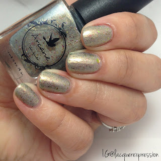 swatch of hero's come nail polish by arcane lacquer