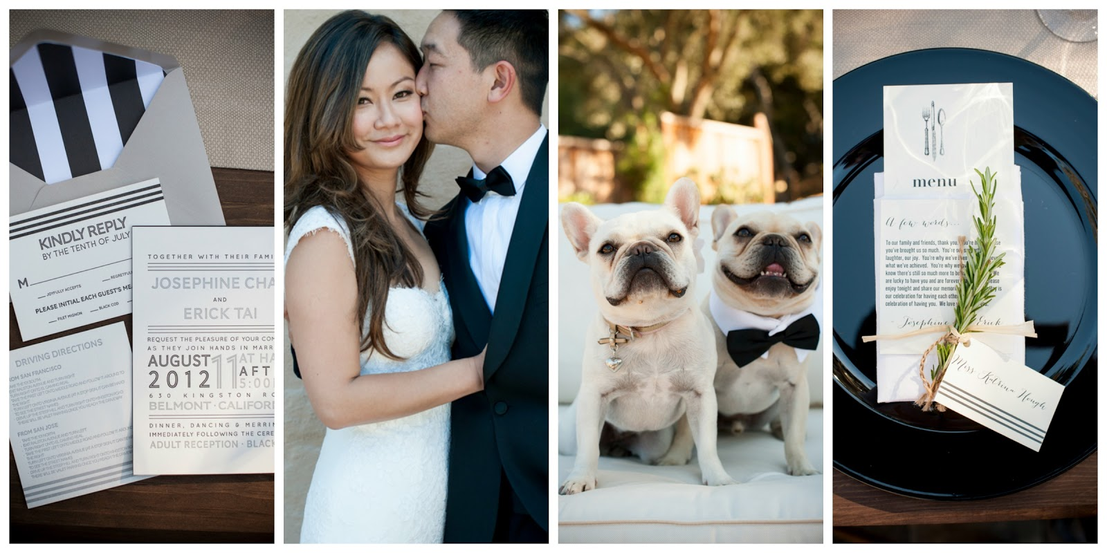 real weddings, california backyard wedding, elegant backyard wedding ideas, outdoor chandelier wedding decor, french bulldog ring bearer