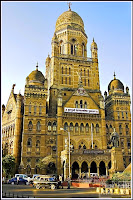 Mumbai Mahanagar Palika's headquarter located near CST Railway Station (formerly Victoria Terminus)