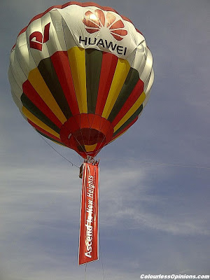 Huawei Ascend to New Heights Media Launch Titiwangsa Kuala Lumpur KL Malaysia 2012 hot air balloon