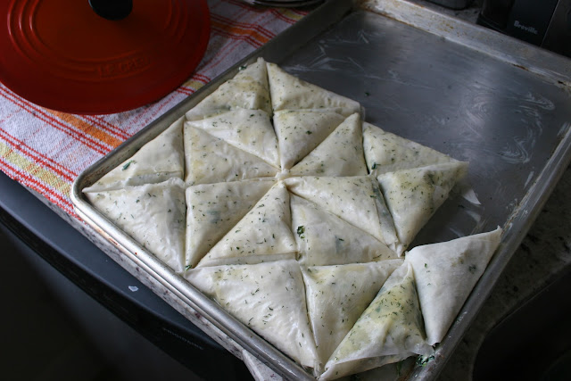 Witchin in the Kitchen's Spanakopita triangles
