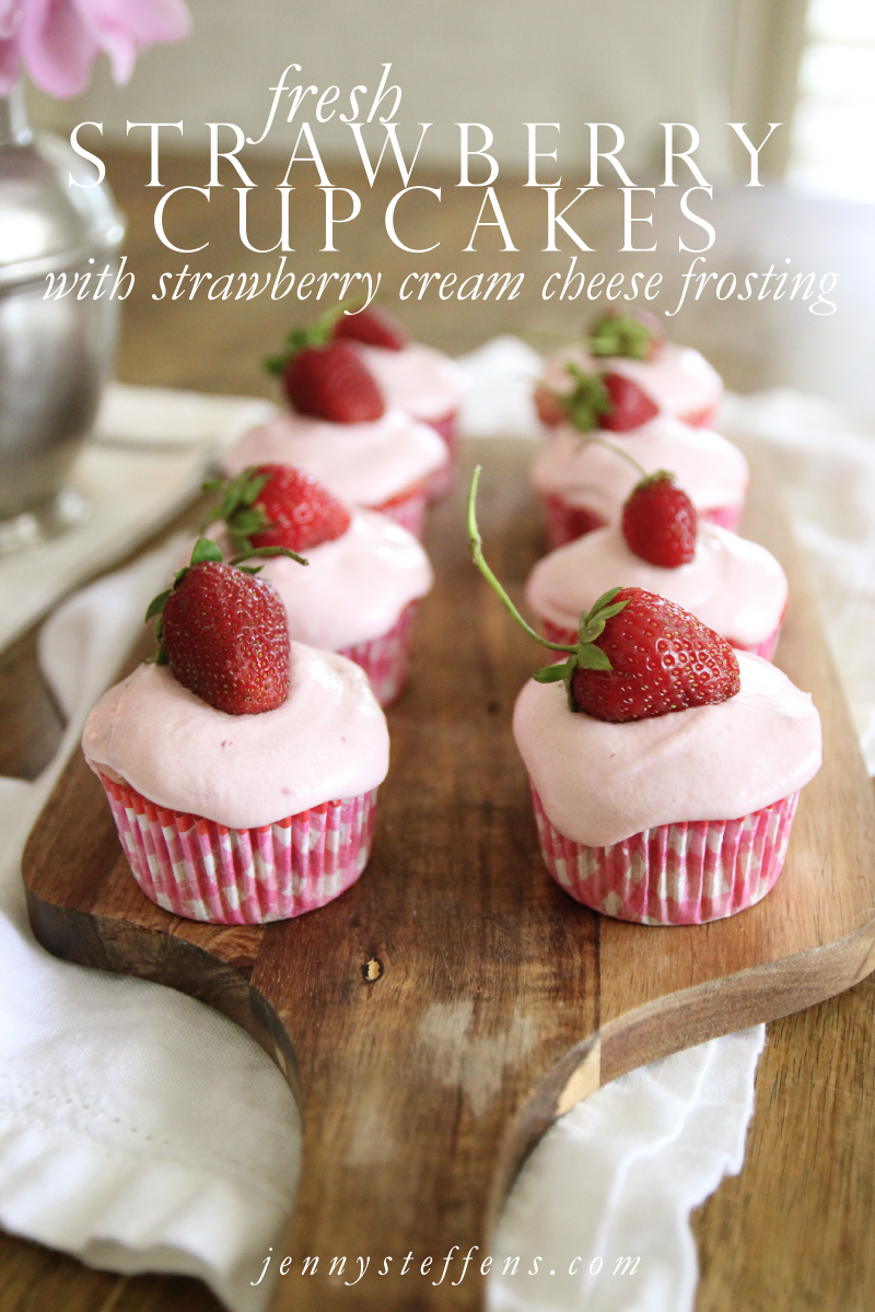 ... : Fresh Strawberry Cupcakes with Strawberry Cream Cheese Frosting