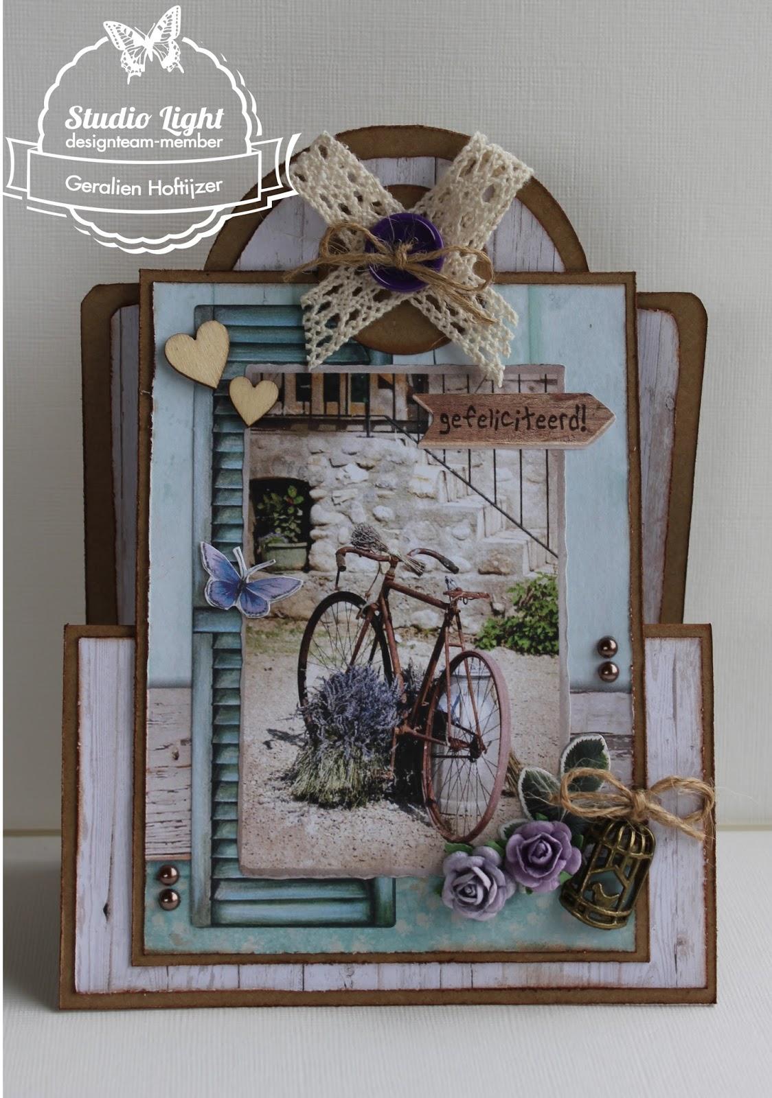 Studio Light Z Fold Card La Provence