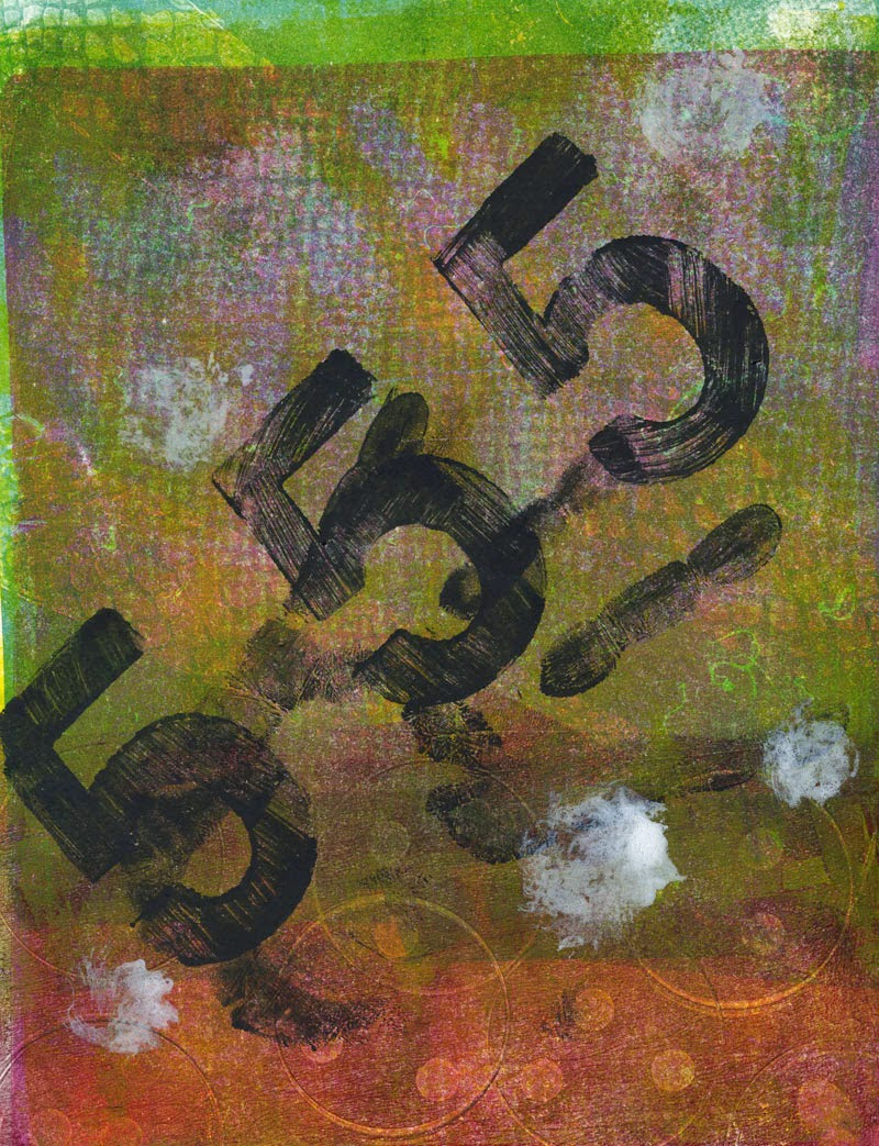 My first prints with a Gelli plate