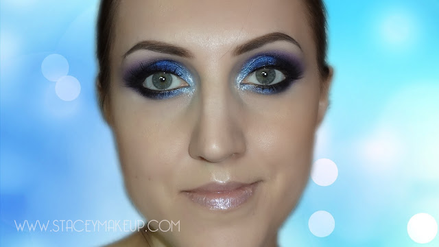 blue makeup tutorial
