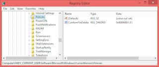 Tampilkan Konfirmasi Penghapusan File Windows 8