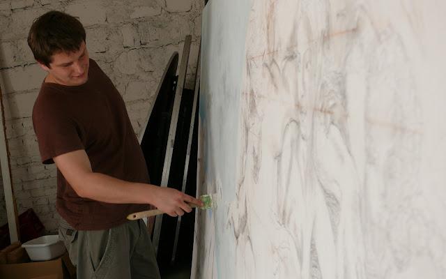 Malowanie kopi znanego dzieła, reprodukcja malowana krok po kroku, stworzenia Adama kopia obrzu
